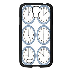 Alarm Clock Hour Circle Samsung Galaxy S4 I9500/ I9505 Case (black)
