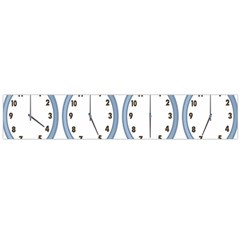 Alarm Clock Hour Circle Flano Scarf (Large)