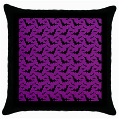 Animals Bad Black Purple Fly Throw Pillow Case (Black)