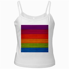 Wooden Plate Color Purple Red Orange Green Blue Ladies Camisoles