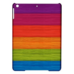 Wooden Plate Color Purple Red Orange Green Blue Ipad Air Hardshell Cases
