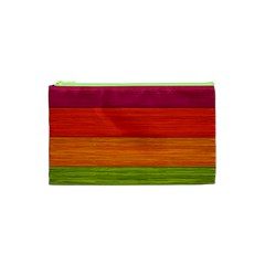 Wooden Plate Color Purple Red Orange Green Blue Cosmetic Bag (xs)