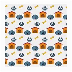Bone House Face Dog Medium Glasses Cloth (2-Side)