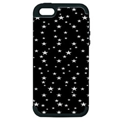Black Star Space Apple Iphone 5 Hardshell Case (pc+silicone)