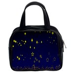 Blue Star Space Galaxy Light Night Classic Handbags (2 Sides) Front