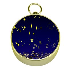 Blue Star Space Galaxy Light Night Gold Compasses