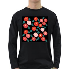 Candy Sugar Red Pink Blue Black Circle Long Sleeve Dark T-Shirts