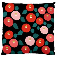 Candy Sugar Red Pink Blue Black Circle Large Flano Cushion Case (one Side)