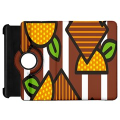 Chocolate Lime Brown Circle Line Plaid Polka Dot Orange Green White Kindle Fire HD 7