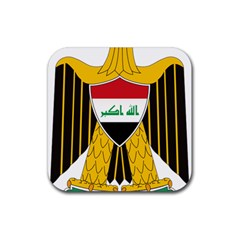 Coat of Arms of Iraq  Rubber Coaster (Square)