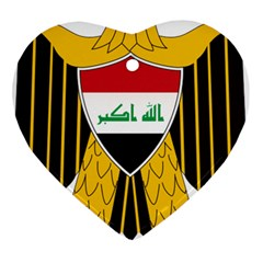 Coat of Arms of Iraq  Heart Ornament (Two Sides)