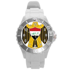 Coat Of Arms Of Iraq  Round Plastic Sport Watch (l)