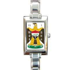 Coat of Arms of Iraq  Rectangle Italian Charm Watch