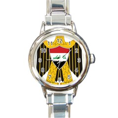 Coat of Arms of Iraq  Round Italian Charm Watch
