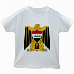 Coat of Arms of Iraq  Kids White T-Shirts