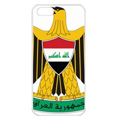 Coat of Arms of Iraq  Apple iPhone 5 Seamless Case (White)