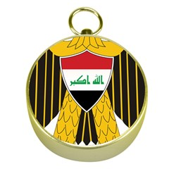 Coat of Arms of Iraq  Gold Compasses