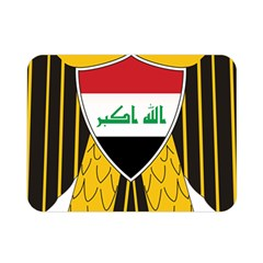 Coat Of Arms Of Iraq  Double Sided Flano Blanket (mini)