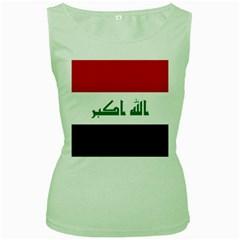 Flag of Iraq Women s Green Tank Top