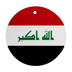 Flag of Iraq Round Ornament (Two Sides)