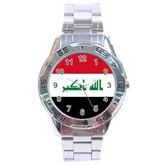 Flag of Iraq Stainless Steel Analogue Watch