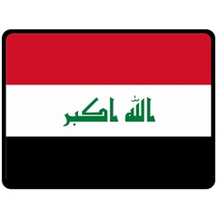 Flag of Iraq Double Sided Fleece Blanket (Large)