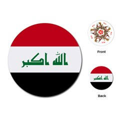 Flag of Iraq  Playing Cards (Round)