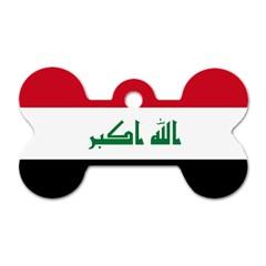 Flag Of Iraq  Dog Tag Bone (two Sides)