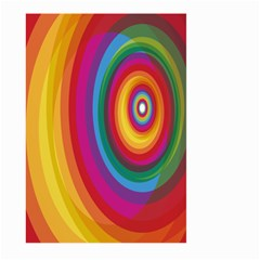Circle Rainbow Color Hole Rasta Large Garden Flag (two Sides)