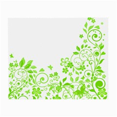 Butterfly Green Flower Floral Leaf Animals Small Glasses Cloth (2-Side)