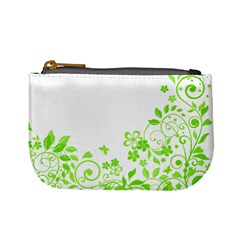Butterfly Green Flower Floral Leaf Animals Mini Coin Purses