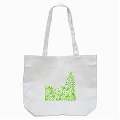 Butterfly Green Flower Floral Leaf Animals Tote Bag (white)