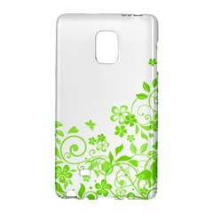 Butterfly Green Flower Floral Leaf Animals Galaxy Note Edge