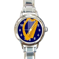 Coat of Arms of Ireland Round Italian Charm Watch