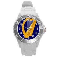 Coat Of Arms Of Ireland Round Plastic Sport Watch (l)