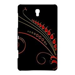 Flower Leaf Red Black Samsung Galaxy Tab S (8.4 ) Hardshell Case