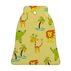 Cute Animals Elephant Giraffe Lion Ornament (bell)