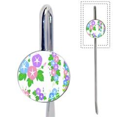 Flower Floral Star Purple Pink Blue Leaf Book Mark