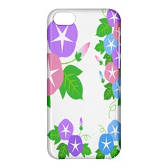 Flower Floral Star Purple Pink Blue Leaf Apple Iphone 5c Hardshell Case