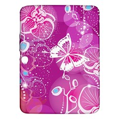 Flower Butterfly Pink Samsung Galaxy Tab 3 (10 1 ) P5200 Hardshell Case