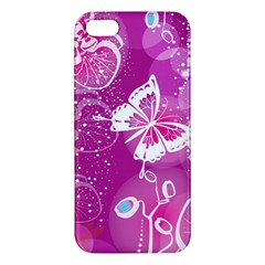 Flower Butterfly Pink Iphone 5s/ Se Premium Hardshell Case