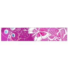 Flower Butterfly Pink Flano Scarf (Small)