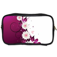 Flower Purple Sunflower Star Butterfly Toiletries Bags