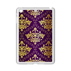 Flower Purplle Gold Ipad Mini 2 Enamel Coated Cases