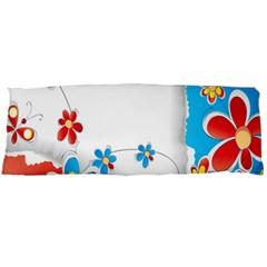 Flower Floral Papper Butterfly Star Sunflower Red Blue Green Leaf Body Pillow Case Dakimakura (two Sides)