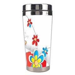 Flower Floral Papper Butterfly Star Sunflower Red Blue Green Leaf Stainless Steel Travel Tumblers