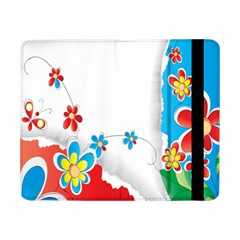 Flower Floral Papper Butterfly Star Sunflower Red Blue Green Leaf Samsung Galaxy Tab Pro 8 4  Flip Case