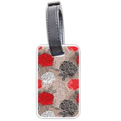 Flower Rose Red Black White Luggage Tags (Two Sides)