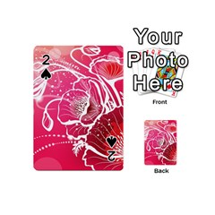 Flower Red Sakura Pink Playing Cards 54 (Mini)