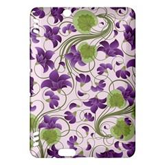 Flower Sakura Star Purple Green Leaf Kindle Fire Hdx Hardshell Case